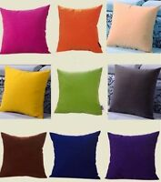 Blank Plain Square Throw Pillow Case Sofa Waist Cushion Cover Home Decor-WI