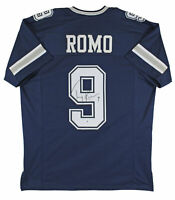 Tony Romo Authentic Signed Navy Blue Pro Style Jersey Autographed BAS Witnessed