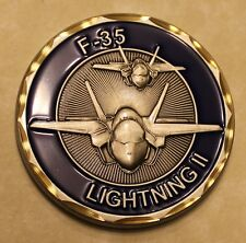 F-35 Fighter Aircraft Lightning II Air Force Challenge Coin
