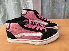 VANS No Skool 2 Skate Womens Suede Skate Shoes - Black & Pink Uk5