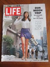 Life Magazine Our Moon Trip Young New York Look August 1969