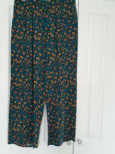 Papaya Leopard/animal Print Lightweight Trousers Size 12
