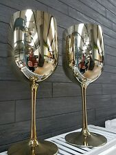 2 x MOET & CHANDON GOLD COLOURED GOBLET - BRAND NEW