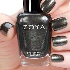 ZOYA ZP813 TRIS ~ metallic brushed nickel nail polish ~ FLAIR Fall 2015 *NEW