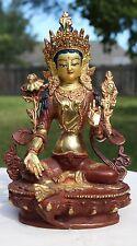 "Large Green Tara Statue Handmade in Northern India  8.75 """