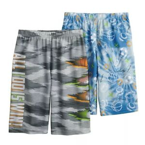 Stay Up Late 2-Pack Boys Sleep Shorts Sports Theme Boy Size 4-5 NEW