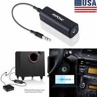 Mpow Ground Loop Noise Isolator Eliminate Home Car MP3 Audio System Stereo 3.5mm