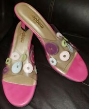 California Magdesians Clear w/Dots Open-Toe Heeled Shoes Size 8N