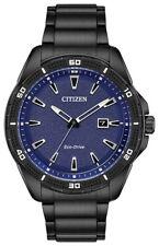Citizen Eco-Drive Men's Black Band 45mm Watch AW1585-55L