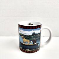 Lang and Wise Northwoods 2003 Coffee Mug Lowell Herrero #15 Moose Canoe Cup