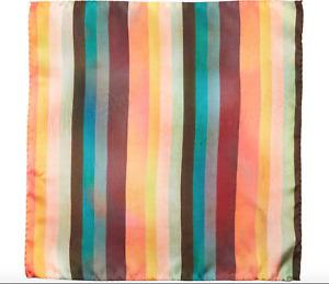 Paul Smith Pocket Square Handkerchief -BNWT Signature Artist Multi Stripe RRP£50