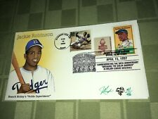 Jackie Robinson Julian Pugh Signed Stamped FDC Colored Envelope 41/46