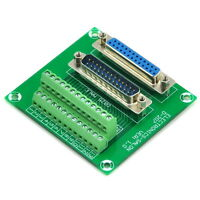 D-SUB DB25 Male / Female Header Breakout Board, Terminal Block, Connector.