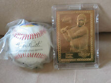 BABE RUTH BASEBALL AND PROMINT GOLD BASBALL CARD COLLECTION
