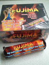 100pc FUJIMA Charcoal Discs for Hookah Bowl or Resin Incense 33mm 10 rolls of 10