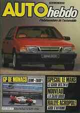 AUTO HEBDO n°423 du 7 Juin 1984 SPECIAL 24h du MANS GP MONACO SAAB 9000