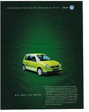 PUBLICITE ADVERTISING  1995  VOLKSWAGEN   LUPO