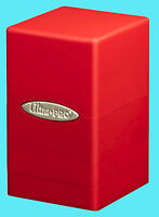 ULTRA PRO SATIN TOWER RED DECK BOX New Gaming Card Dice Storage Compartment