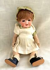 """Antique Bisque Head Doll Composition Body, Sleepy Eye, Open Mouth - Germany, 13"""""""