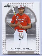 """BRYCE BUSH 2017 """"1ST EVER PRINTED"""" PERFECT GAME AAC ROOKIE CARD!!!"""
