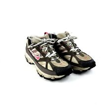 new concept 92579 c10b6 Nike Womens Size 7 Air ACG Hiking Trail Running Shoes Brown Pink