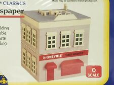 "K-Lineville  Building Kit O Scale Model ""Newspaper""  Building,  MIB ""Sealed"""