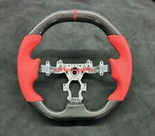Nissan GTR R35 Carbon Steering Wheel Leather Alcantara Flat Bottom Red Stitching