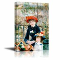 "Two Sisters (On the Terrace) by Pierre-Auguste Renoir - Canvas Print- 24"" x 36"""