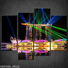MARINA BAY SANDS AT NIGHT SINGAPORE CASCADE CANVAS PRINT WALL ART READY TO HANG