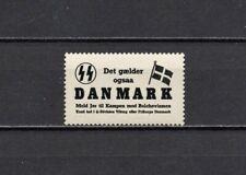 1939 Deutsches Reich Occupation Denmark DNSAP Vignette Propaganda MNH OG