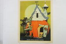 Kellogg's Nursery Rhyme print Peter Peter Pumpkin Eat 1938 Vintage Vernon Grant