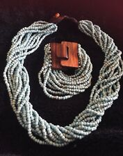 turquoise Bead necklace & Bracelet Set