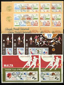 Malta Doubletten-Blocklot ab 1974-1998 gestempelt, Inhalt siehe Scan