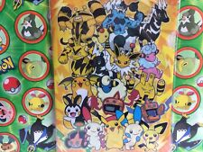 Pokemon Center Mareep Flaffy Pichu Raikou Raichu Zapdos 2012 File Card   (plush)