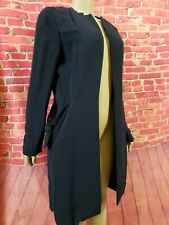 MARNI WOMENS DUSTER COAT NAVY BLUE LONG SLEEVE Size IT 42 WITH RARE POCKETS