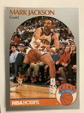 1990-91 HOOPS MARK JACKSON KNICKS WITH MENENDEZ BROTHERS AT COURTSIDE #205