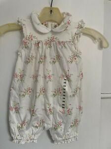 Cute Ralph Lauren Polo Baby Girl Romper White 9 Months NWT NEW
