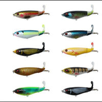 Eye Topwater 2 Segment Rotating Tail Fish Bait Fishing Lure VMC Hooks Plopper