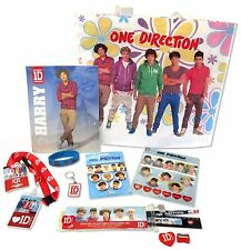 ONE DIRECTION - 8 PIECE ACCESSORY FLOWER TOTE BAG SET NEW OFFICIAL 1D MUSIC