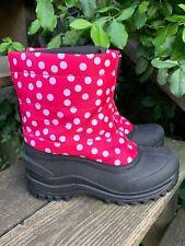 Sale @ Itasca Hot Pink Fuchsia Polka Dot Insulated Boots Girls Shoe Sz 4 ��ts17j