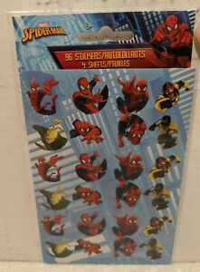 Marvel Spiderman 96 Stickers (4 Sheets) New