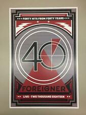 Foreigner 2018 40th Anniversary Tour Poster