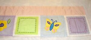 """Tiddliwinks Girl's Valance in Pastel Butterflies, Flowers & Patches - 68"""" x 14"""""""