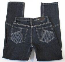 FUBU Denim Slim Fit Jeans Pants Girls Misses Size 14 Black Stretch Straight Leg