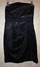 TRIXXI Black Silver Short Strapless HOMECOMING PROM DRESS NWOT NEW Juniors Sz 5