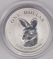 1999 C Canguro de Australia Plata 1 OZ (approx. 28.35 g) un dólar en una cápsula