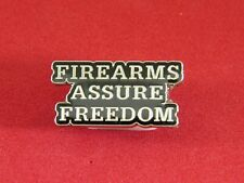 pin Silver finish Firearms Assure Freedom lapel/hat