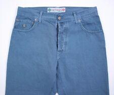 Luigi Borrelli Azul 5 Bolsillo Algodón Pantalones Informales Talla 33 Nuevo BL7