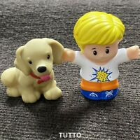 Fisher Price Little People Figure Eddie & Dog Puppy Pet Animal Figures Kids Toys