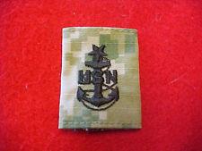 US Navy Type III Type 3 Green Digital  E-8 rank tab for blouse & parka